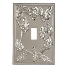 Amerelle Leaf 1 Toggle Wall Plate - White-8335TW - The Home Depot