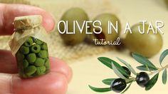 polymer clay Olives In a Jar  TUTORIAL | polymer clay food