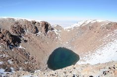 Lake in the crater of the Licancabur volcano, nearly 6,000 m.a.s.l., border between Bolivia and Chile
