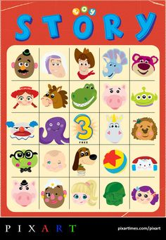 Ha! Toy Story bingo card ;-)