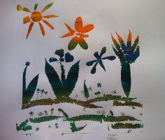 Serigrafia powstała na warsztatach http://dobrewarsztaty.pl