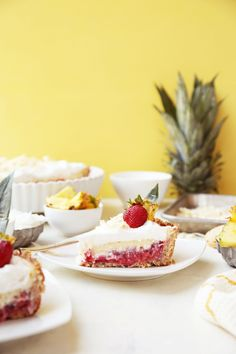 Strawberry Piña Colada Pie + GIVEAWAY! - The Candid Appetite