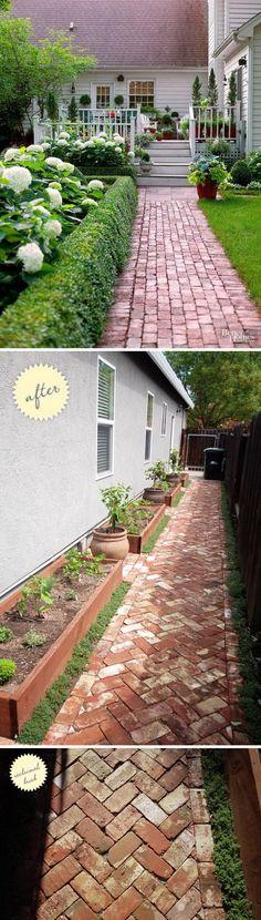 Lay a Front Entry Brick Walkway.