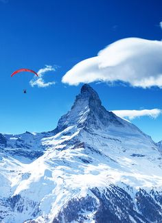 """Bucket List Item - Paragliding over the Swiss Alps and the Matterhorn. Book with FlyZermatt.com and mention """"kevinandamanda"""" to get a free gift!"""