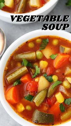 Healthy Recepies, Healthy Soup Recipes, Healthy Meals For Kids, Vegetarian Recipes, Cooking Recipes, Veggie Soup, Mediterranean Diet Recipes, Food Journal, Chilis
