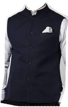 Black Nehru Jacket! Can be worn with denims, trousers or kurtas!
