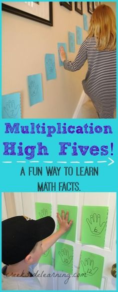 Games ~ Learn Times Tables While You Move Multiplication games for learning math facts in a fun way! Learning Multiplication, Kinesthetic Learning, Teaching Math, Learning Games, Multiplication Strategies, Math Fractions, Decimal Multiplication, Math For Kids, Fun Math
