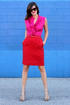 What I Wore, WhatIWore, What I Wore Today, Jessica Quirk, OOTD, Outfit of the Day, Personal Style Blog, Personal Style Blogger, Fashion Blog, Fashion Blogger, Fashion Blog on Tumblr, How to wear Red and Pink together, What shoes to wear with red