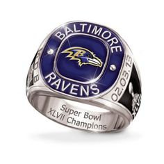 Personalized Champions Commemorative Mens Ring  Baltimore Ravens Lince 0f0f647426c