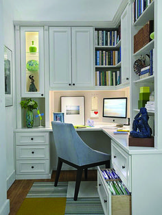 30 Corner Office Designs and Space Saving Furniture Placement Ideas – Haus Dekoration – Home Office Design Diy Small Home Offices, Home Office Space, Home Office Design, Home Office Decor, Home Decor, Office Designs, Office Ideas, Home Office Furniture Design, Home Office Lighting