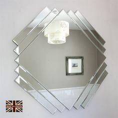 Art Deco Style All Glass Mirror | Decorative Mirrors Online Ltd