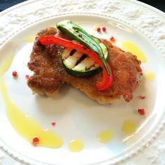 鶏モモ肉のポアレ