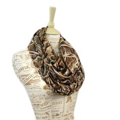 Mossy Oak Scarf Camo Infinity Camouflage by ForgottenCotton, $22.00 fall winter realtree real tree
