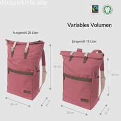 Best 11 Fully featured backpack with free sewing pattern and step by step tutorial. Has a roll over top so you can add more or less and keep the bag the right size for the contents. Great school backpack for the kids too. Top Backpacks, Stylish Backpacks, Diy Backpack, Leather Backpack, Leather Bags Handmade, Handmade Bags, Backpack Pattern, Fabric Bags, Leather Handbags