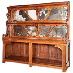 A Large French 19TH Century Art Nouveau Bakery Cabinet