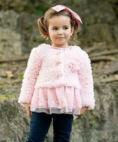 Mia Belle Baby Pink Poodle Peplum Jacket - Toddler & Girls #zulily *loving this whole collection