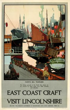 East Coast Craft Visit Lincolnshire LNER Mason UK / 1930s / Travel Posters / Frank H. Mason / 102x63.5 Original… / MAD on Collections - Browse and find over 10,000 categories of collectables from around the world - antiques, stamps, coins, memorabilia, art, bottles, jewellery, furniture, medals, toys and more at madoncollections.com. Free to view - Free to Register - Visit today. #Posters #Travel #MADonCollections #MADonC