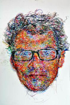 """Saatchi Art Artist: Iam Scribble; Pastel 2011 Drawing """"scribble study"""""""
