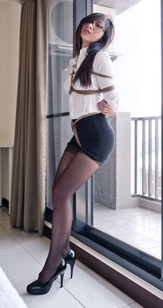 """boundgaggedandfucked: """"More BDSM Hot Collections """" Asian Woman, Asian Girl, Bd Art, Girl Tied Up, Women Ties, Porno, In Pantyhose, Nylons, Sexy Stockings"""