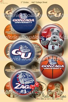 aminco Gonzaga Basketball Pin