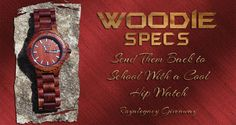 Royalegacy Reviews and More: Woodie Specs Red Sandalwood Watch - Back to School Pre-K to College Giveaway Event ends 08/22/15 US