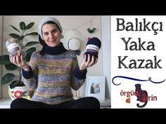 Tığ İşi Balıkçı Yaka (Boğazlı) Kazak Yapımı - YouTube Knitting Videos, Crochet Videos, Christmas Sweaters, Turtle Neck, Booty, Pullover, Youtube, Fashion, Tricot
