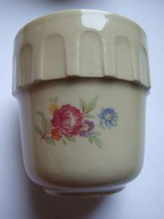 Set of 4 vintage mugs / Made in Poland / Tułowice / Polish folk art / hand printed / beautiful flower pattern / glazed Available at: etsy.com/shop/VintagePolkaShop