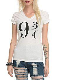 HOTTOPIC.COM - Harry Potter 9 3/4 V-Neck Girls T-Shirt