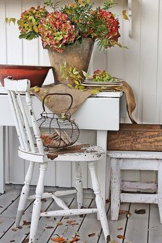 Fall decorating with vintage finds