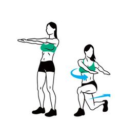 Leg toning: Perform this fast workout two or three times a week: Complete 10 to 15 reps of each exercise, moving from one to the next with little (30 seconds) to no rest in between. Do two or three sets total.