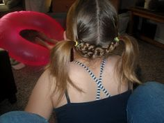 Tied up Funky pigtails