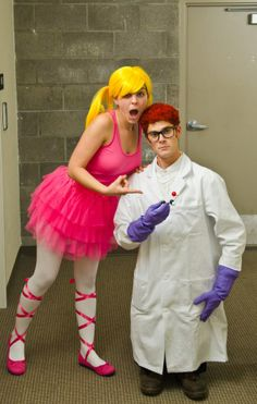 Dexter and DeeDee, Dexter's Laboratory. Ideas for mike and I for Halloween..? Yes.