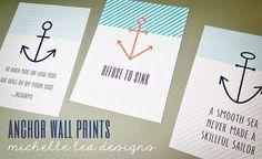 michelle lea designs: Anchor Wall Printables