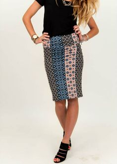 Row Your Boat Pencil Skirt – Agnes & Dora $28