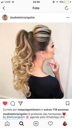 Pony Hairstyles, Baddie Hairstyles, Wedding Hairstyles, Wedding Hair And Makeup, Bridal Hair, Hair Makeup, Ponytail Styles, Hair Styles, Glamour Hair