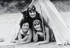 Camping. 1920s style.