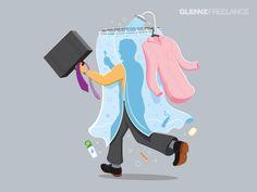 Glennz Freelance Illustrations by Glenn Jones, via Behance