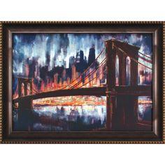 Gallery Brooklyn Bridge Framed Painting Print Canvas Art