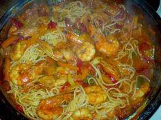 Shrimp Recipes, Fish Recipes, Pasta Recipes, My Recipes, Vegan Recipes, Recipies, Greek Dishes, Main Dishes, Cookbook Recipes