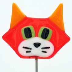 Glassworks Northwest - Cute Cat Plant Stake Orange - Fused Glass Garden Art. This perfect glass cat can stay in or out all year! Perfect in the yard, in a flower pot or in a planter. No watering, feeding or changing the litterbox! I make each stake myself in my home studio by creating a design on paper, selecting the glass, cutting the glass to size, assembling/decorating it and firing it in one of my three kilns. Every piece is properly annealed so the glass is strong, very shiny and...