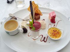 love French desserts - this mini plate of desserts is to die for! (especially with the espresso on the side)