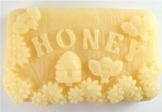 This honey and goat's milk soap is adorable! Handmade Glycerin Soap - Milk and Honey Soap.  #bees
