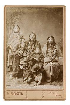 Porcupine (aka Harvey White Shield) and family - Southern Cheyenne - 1900