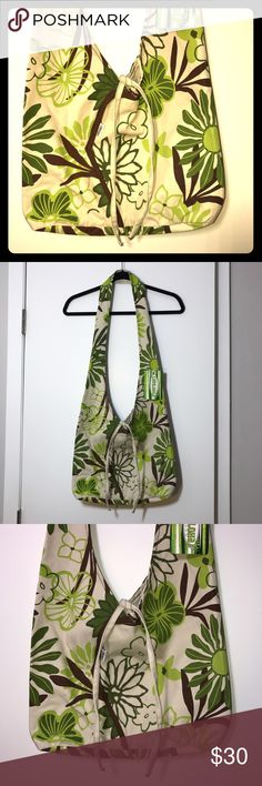"""Cariloha Beach Bag Koko Kai New with tags. No damages, stains, or wearing. Great little beach bag, light weight and easy to clean. The strap is about 36"""". Base is 3"""", 10.5"""" high and 15"""" across. Made out of bamboo fiber. Cariloha Bags Shoulder Bags"""