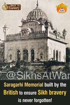 #BackToHistory Saragarhi Memorial built by the British to ensure Sikh bravery is never forgotten Share & Spread!