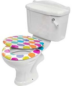 Buy ColourMatch Toilet Seat - Spots at Argos.co.uk, visit Argos.co ...