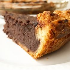 The first time I made this Chocolate Buttermilk Pie, it cracked down the middle just minutes after it came out of the oven. I have a history of making ugly pies (my motor skills leave something to… Pound Cake Recipes, Pie Recipes, Sweet Recipes, Dessert Recipes, Cooking Recipes, Maple Pecan Pie, Apple Slab Pie, Recipe Using Sour Milk, Yummy Treats