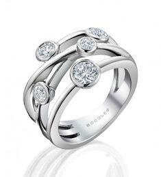 Raindance Classic Anniversary Ring diamond, emerald, and sapphires maybe