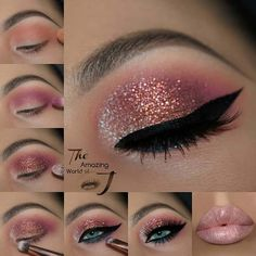 How To Do Makeup – Step By Step Tips For The Perfect Look Glitter Eyes Makeup Tutorial How do I make-up like a pro? We have many simple step-by-step instructions for beginners. Learn about contours, eyeliner, eyeshadow, etc. # Make-up instructions Eye Makeup Glitter, Pink Eye Makeup, How To Do Makeup, Eyeshadow Makeup, Glitter Eyeshadow Tutorial, Eyeshadow Palette, Makeup Brushes, Highlighter Makeup, Navy Eyeshadow