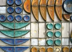 MID-CENTURIA : Art, Design and Decor from the Mid-Century and beyond: Geometric Ceramic & Concrete Mural from Dresden